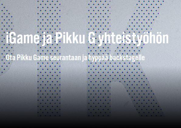 iGame + Pikku G = Pikku Game