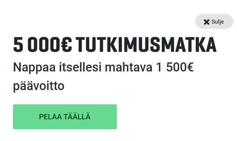 Gutsin 5000 euron tutkimusmatka