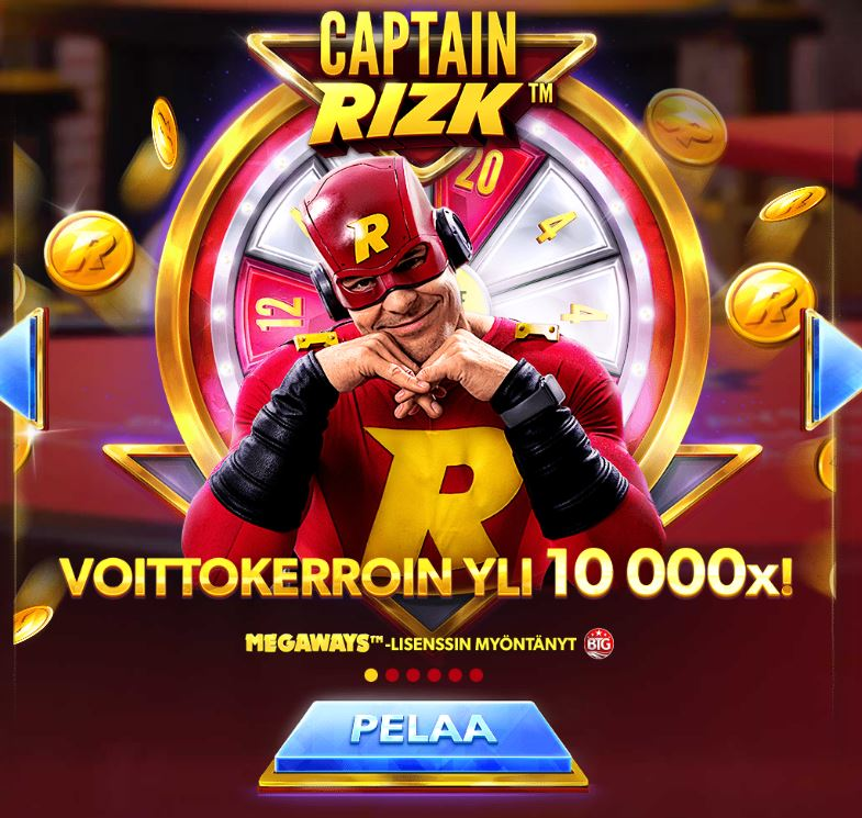 Captain Rizk Megaways kolikkopeli